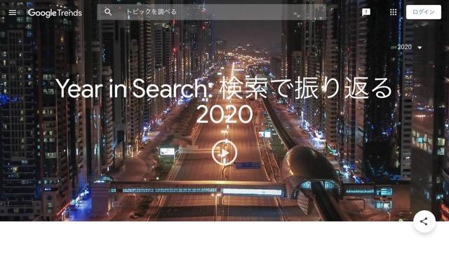 Googleトレンドの昨年の検索トレンド